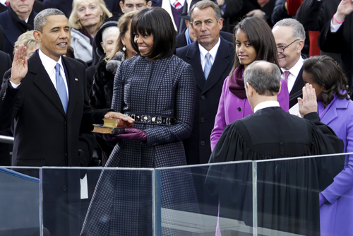 DC: Ceremonial swearing-in of President Obama