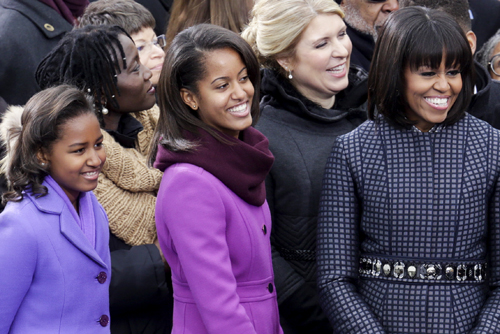 DC: First Family at Ceremonial swearing-in of President Obama