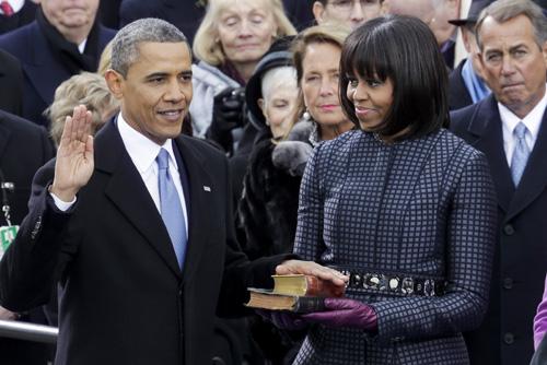 DC: Ceremonial swearing-in of President Obama