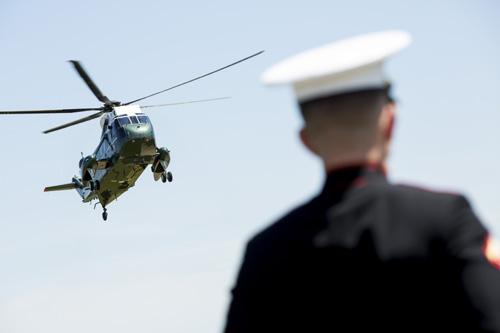 MD: President Barack Obama Arrives In Baltimore