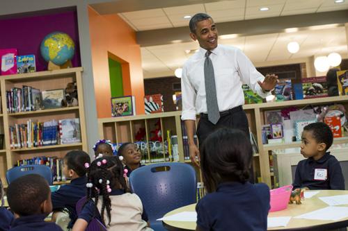 MD: President Barack Obama Visits Moravia Park Elementary School